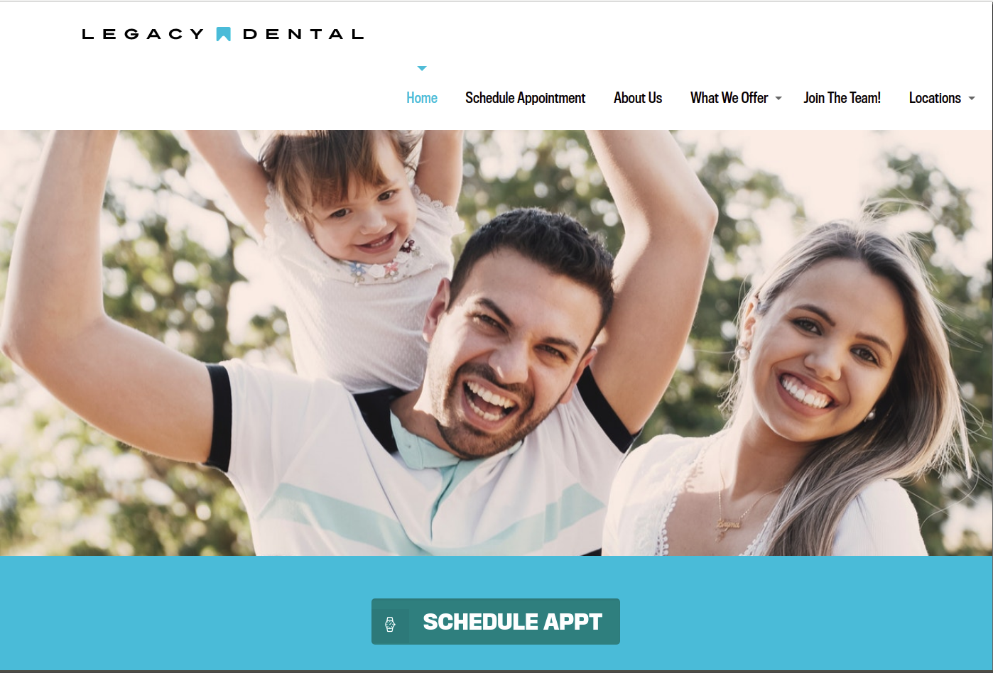Legacy Dental DFW WordPress