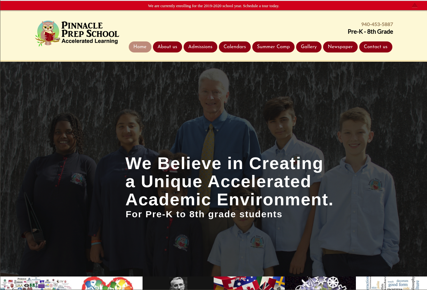 Pinnacle Prep School WordPress